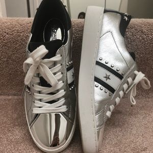 Michael Kors sneakers sliver and navy